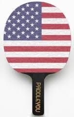 American Flag Ping Pong Paddle